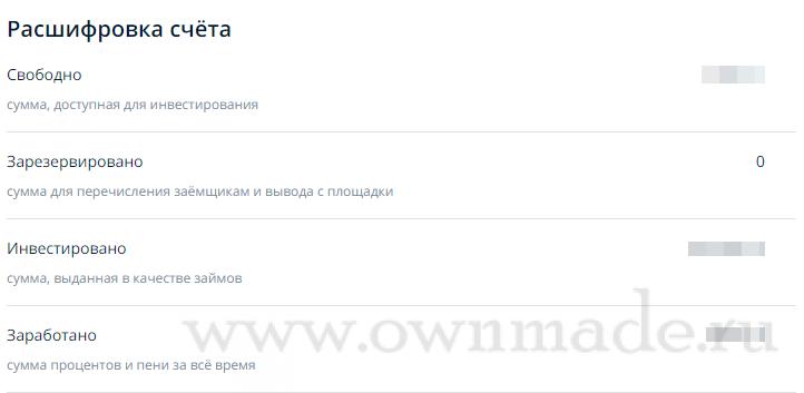 Расшифровка счёта в invest.ozon.ru